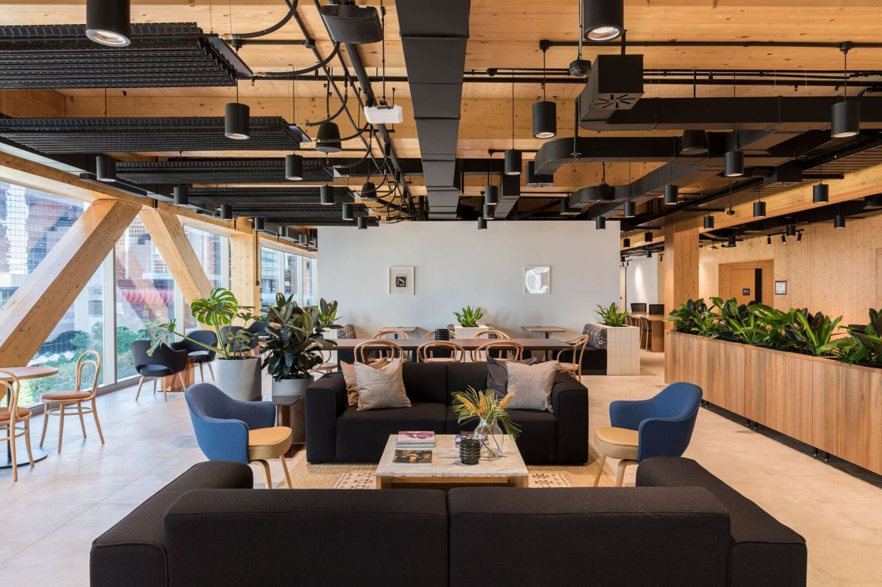 WeWork sussex st office space with audio visual technology
