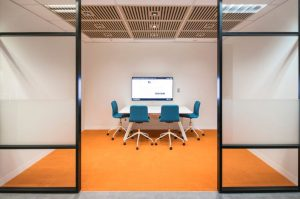 Office Huddle Space with LED Display
