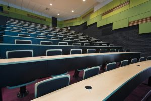 University Lecture theatre with audio visual LED screens
